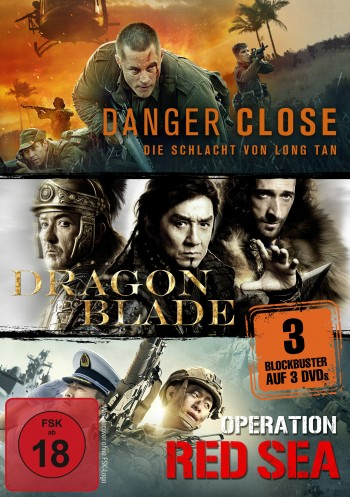 Kriegsfilm-Box: Danger Close, Dragon Blade & Operation Red Sea
