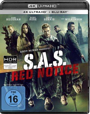S.A.S. Red Notice - 4K Ultra HD + Blu-ray